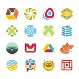 Комплект логотипа Стоковое Изображение RF