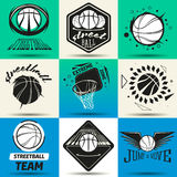 Комплект логотипа Streetball Стоковые Фотографии RF