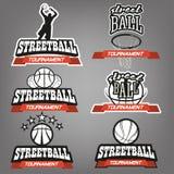 Комплект логотипа Streetball Стоковые Изображения RF