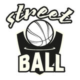 Комплект логотипа Streetball Стоковое Фото