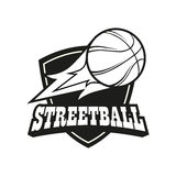 Комплект логотипа Streetball Стоковая Фотография