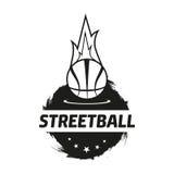 Комплект логотипа Streetball Стоковые Фото
