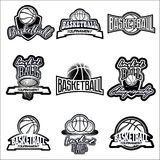 Комплект логотипа Streetball Стоковое Изображение RF