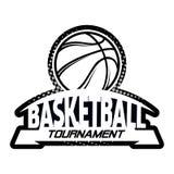Комплект логотипа Streetball Стоковое Изображение