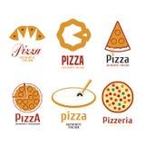 Комплект логотипов вектора пиццы иллюстрация вектора