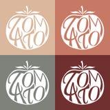 Комплект логотипов вектора с томатом Стоковая Фотография RF