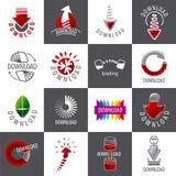 Комплект логотипов вектора для загрузки Стоковые Фото