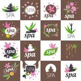Комплект логотипов вектора для салона курорта Стоковое Изображение