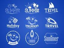 Комплект логотипов лета бесплатная иллюстрация
