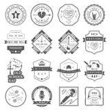 Комплект логотипов и музыки значков Стоковые Фотографии RF