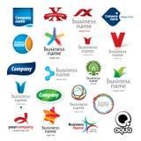 Комплект логотипов конспектов Иллюстрация вектора