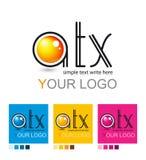 Комплект логотипов, корпоративный дизайн Стоковая Фотография