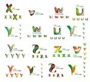 Комплект логотипов красочного абстрактного письма корпоративных Стоковое фото RF
