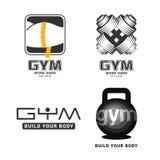 Комплект логотипов спортзала в векторе бесплатная иллюстрация