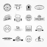 Комплект логотипов хлебопекарни вектора Стоковое Изображение RF