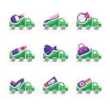 Комплект логотипов для зубоврачебной клиники Стоковое Изображение RF