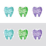 Комплект логотипов для зубоврачебной клиники Стоковые Фото