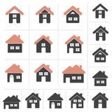 Комплект домашнего собрания значка Стоковое Изображение RF