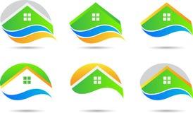 Комплект домов eco иллюстрация штока