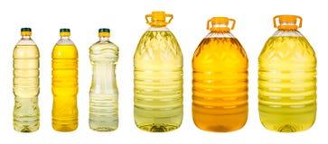 Комплект дополнительного виргинского масла оливкового масла и семени подсолнуха раздражает на wh Стоковое Фото