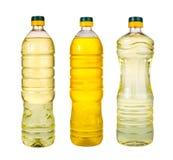 Комплект дополнительного виргинского масла оливкового масла и семени подсолнуха раздражает на wh Стоковые Изображения RF