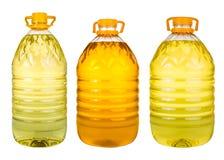 Комплект дополнительного виргинского масла оливкового масла и семени подсолнуха раздражает на wh Стоковое Изображение