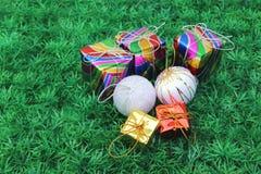 Комплект орнамента рождества Стоковая Фотография RF
