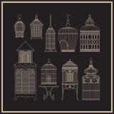 Комплект орнаментального винтажного birdcage Стоковая Фотография RF