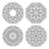 Комплект орнаментов цветка вектора Стоковые Изображения