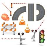 Комплект дорожных работ бесплатная иллюстрация