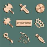 Комплект оружия шаржа Стоковое Изображение