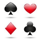 Комплект лоснистых значков карточки Стоковое Изображение