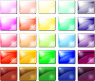 Комплект лоснистых икон кнопки Стоковое Изображение
