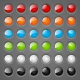 Комплект круглых кнопок иллюстрация вектора