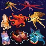 Комплект осьминога Стоковые Изображения RF
