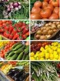Комплект отображает овощи Стоковая Фотография