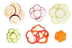 Комплект отрезанных овощей Стоковые Фото