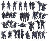 Комплект офицеров тяжёлого удара стоковые изображения rf