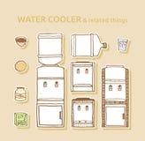 Комплект охладителей воды в бутылках Стоковые Изображения RF
