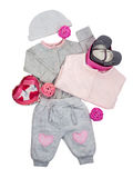 Комплект одежд младенца для ребёнка Стоковое Изображение