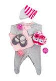 Комплект одежд младенца для ребёнка Стоковые Фото
