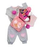 Комплект одежд младенца для ребёнка Стоковое фото RF