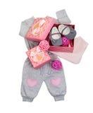 Комплект одежд младенца для ребёнка Стоковая Фотография RF