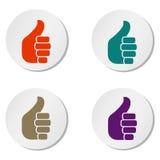 Комплект одобренных кнопок Стоковая Фотография