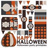 Комплект партии хеллоуина Стоковая Фотография