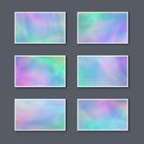 Комплект пастельных красочных визитных карточек иллюстрация вектора