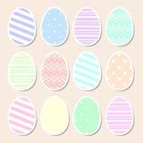Комплект пастельных пасхальных яя Стоковые Фото