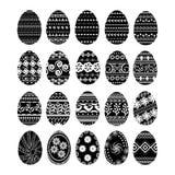 Комплект 20 пасхальных яя Стоковые Изображения