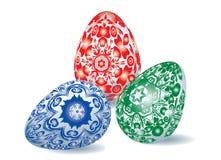 Комплект пасхальных яя Стоковое Фото
