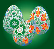 Комплект пасхальных яя Стоковые Фото